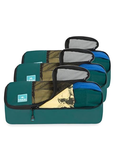 Fagel Travel 3Lü Slim Set Yeşil